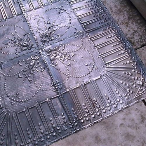 antique-tin-ceiling-cleaned-restored-approx-100-yrs-salvage-cowboy